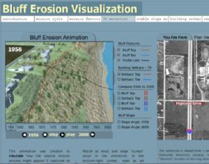 Bluff erosion visualization