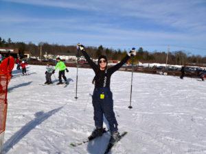 skiing at peak Anna McCartney